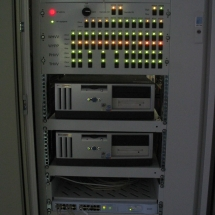 RS - havarijný panel, PC, switch