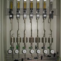 Signalizácia prietoku plynu do chromatografu
